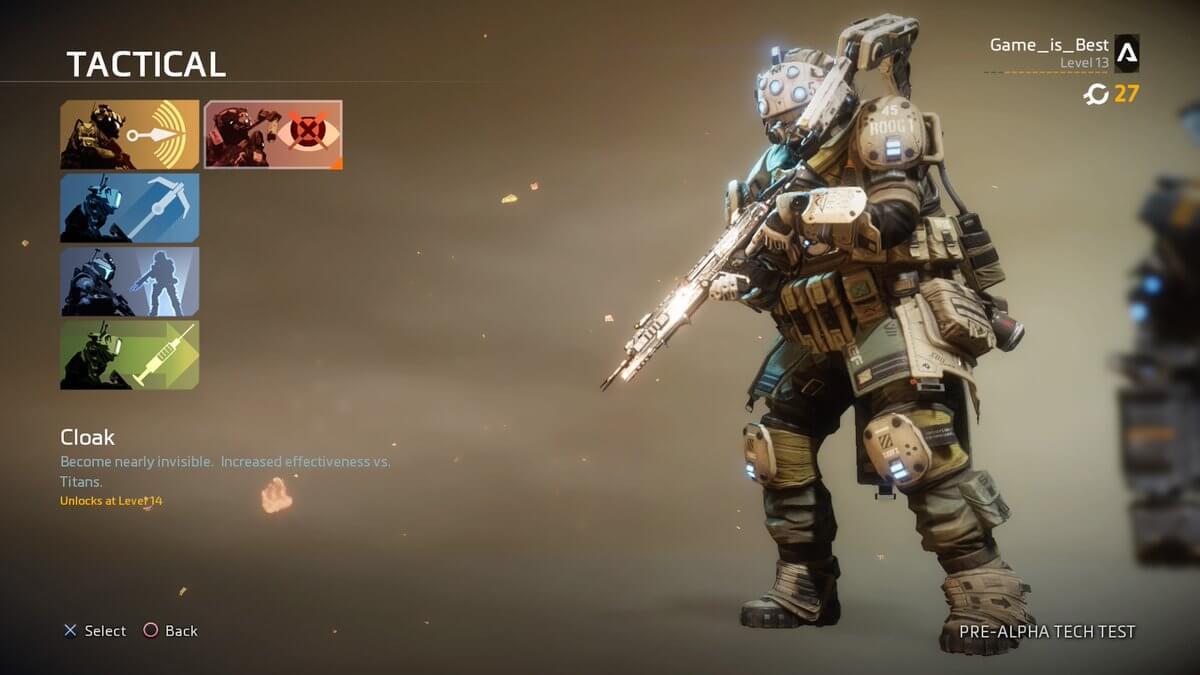 【TitanFall2】TACTICALは透明になれるCloakが強くてオススメ。