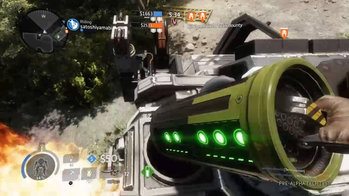 【Titanfall2】電池をタイタンに使ってバリア強化をする方法