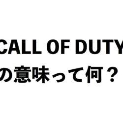 callofdutyの意味って何