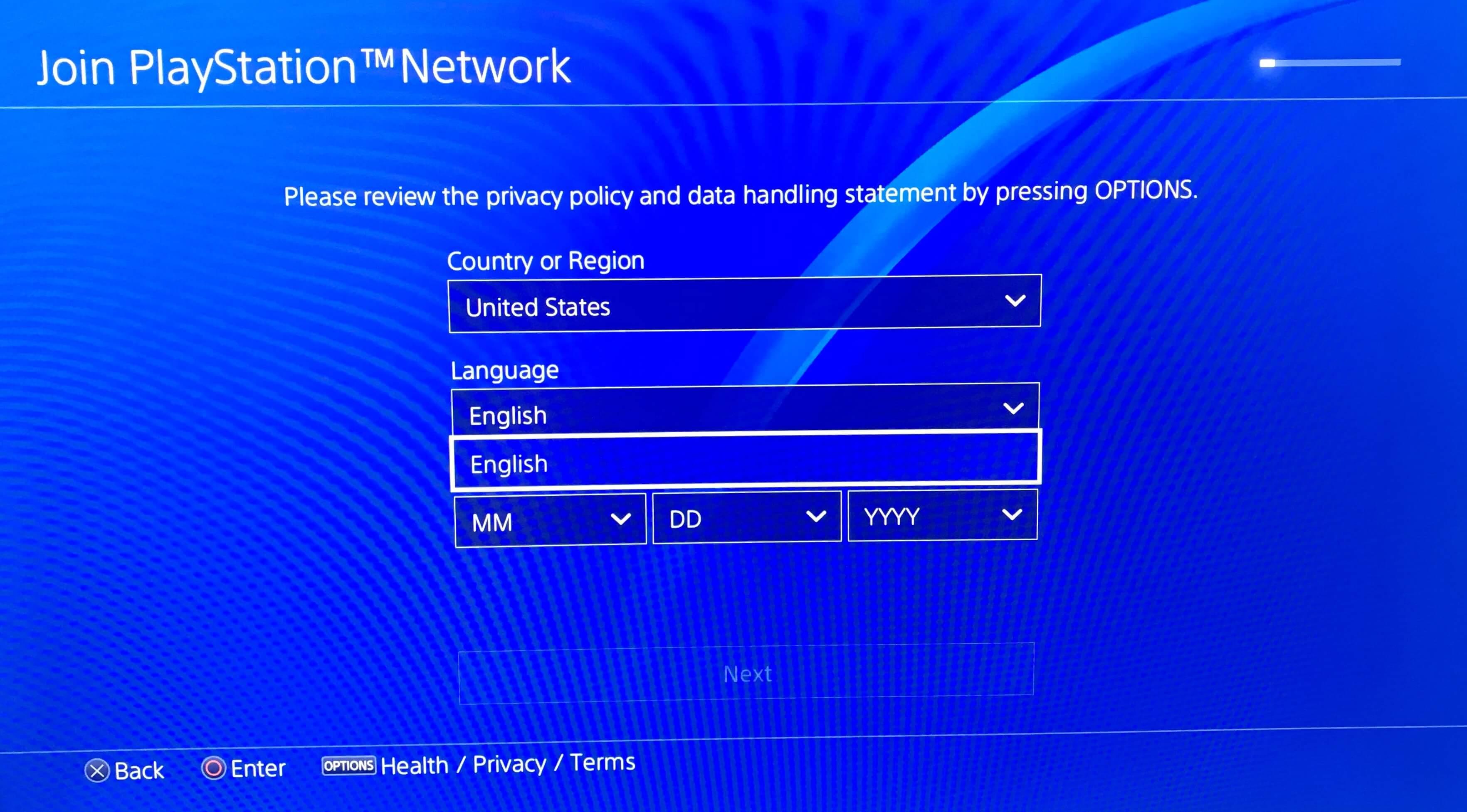 PSN北米アカウントの作り方