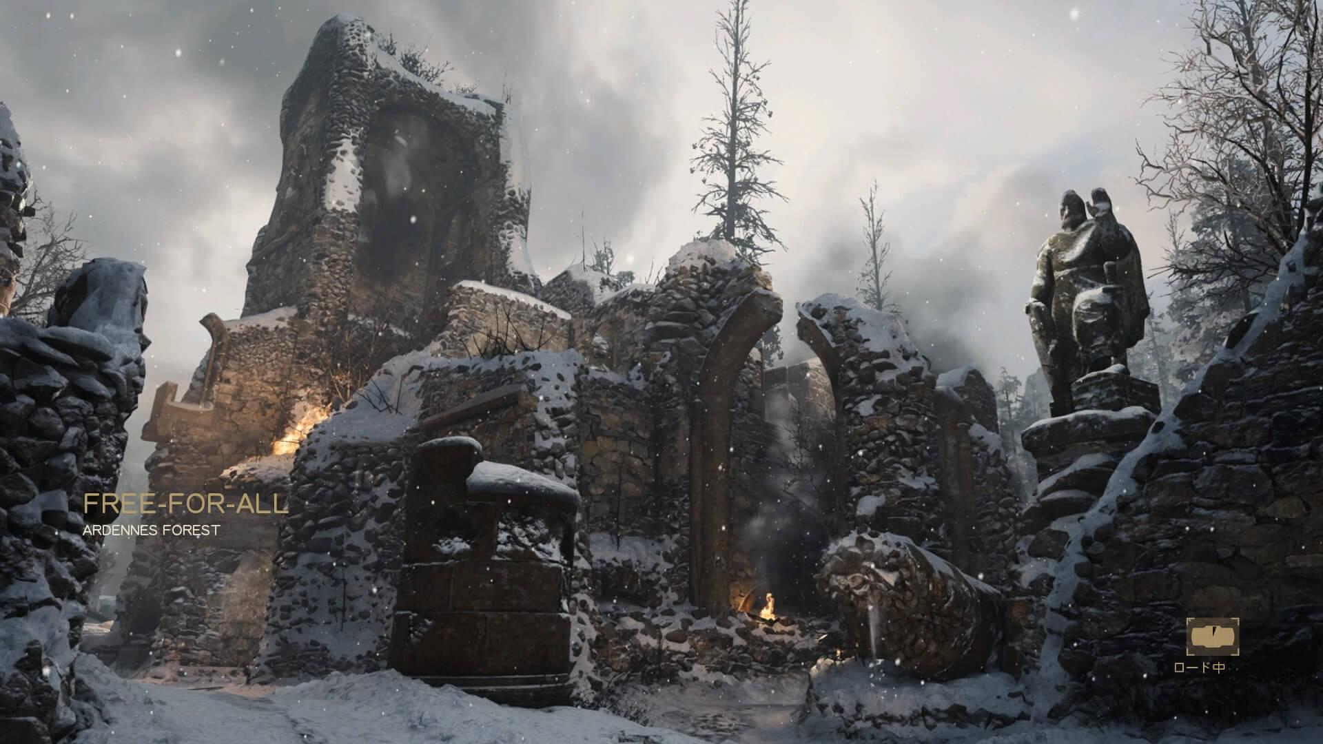 【CoD:WW2】ARDENNES FORESTでの戦い方、立ち回り、強ポジを探してみる【FFA】