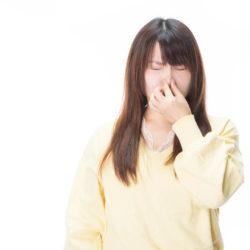 自分の鼻息が気になる女性