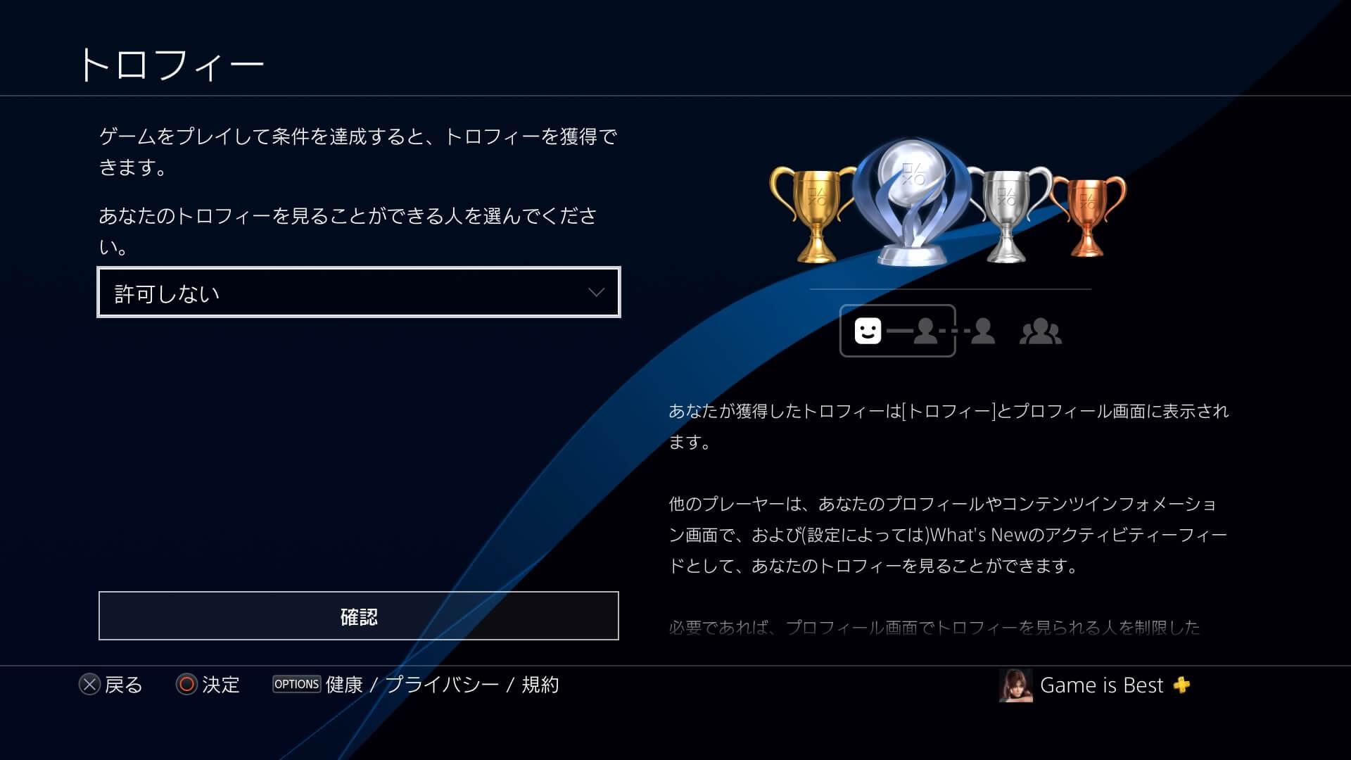 PS4トロフィー