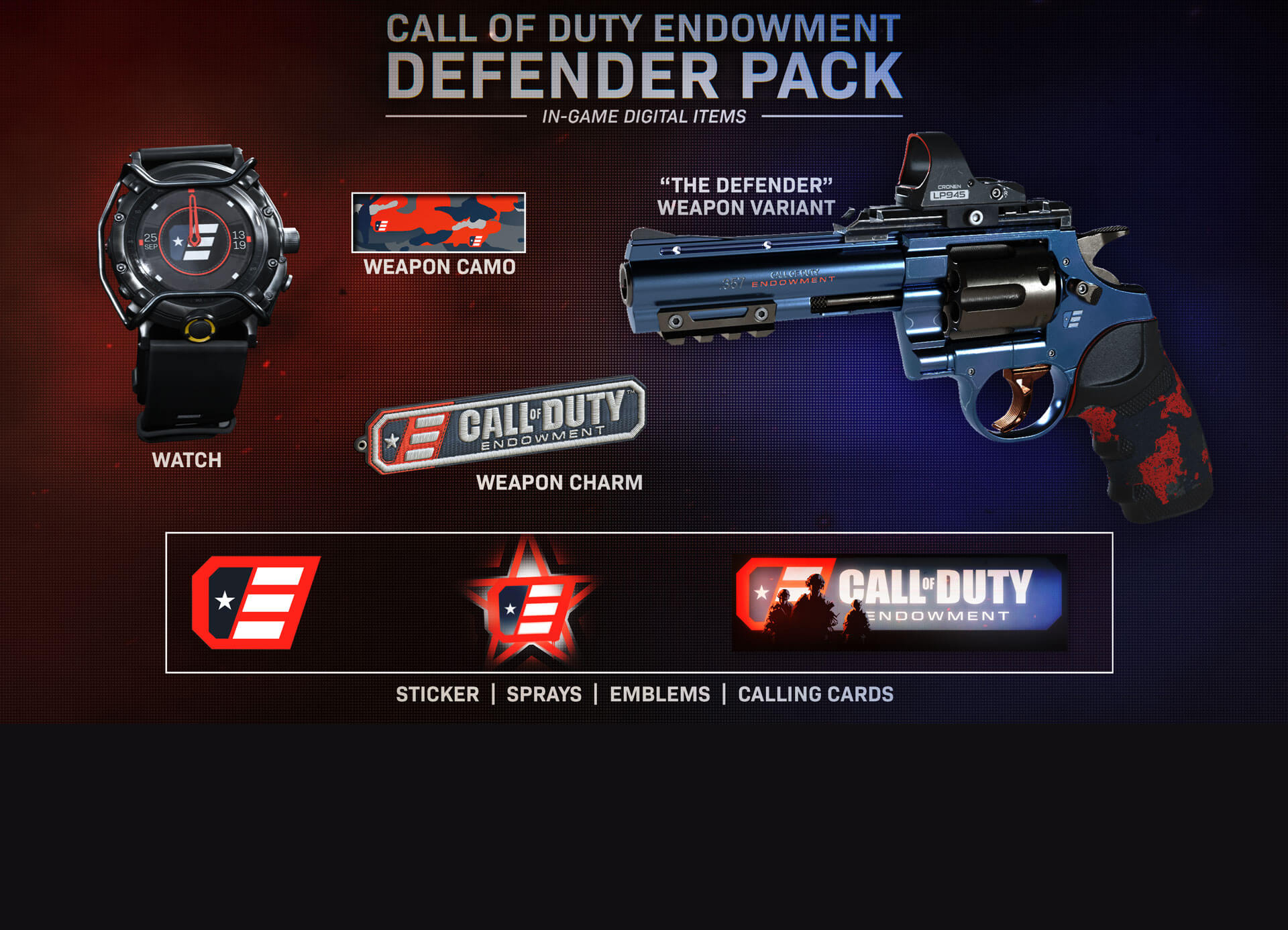 THE CALL OF DUTY ENDOWMENT DEFENDER PACK