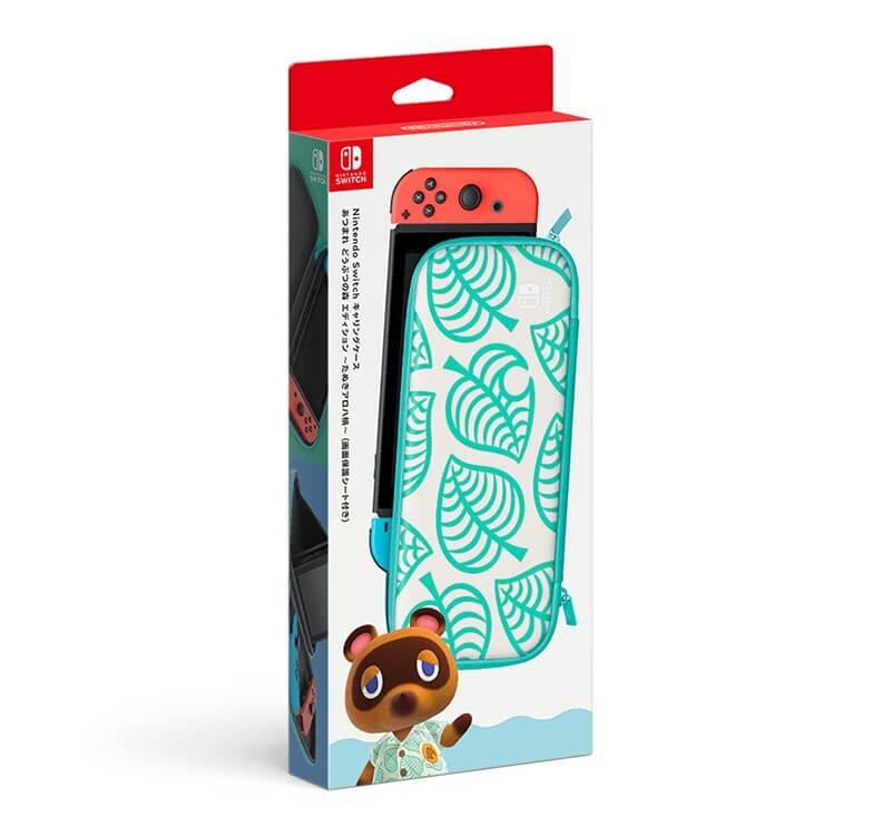 Nintendo Switchキャリングケース あつまれ どうぶつの森エディション ~たぬきアロハ柄~(画面保護シートつき)
