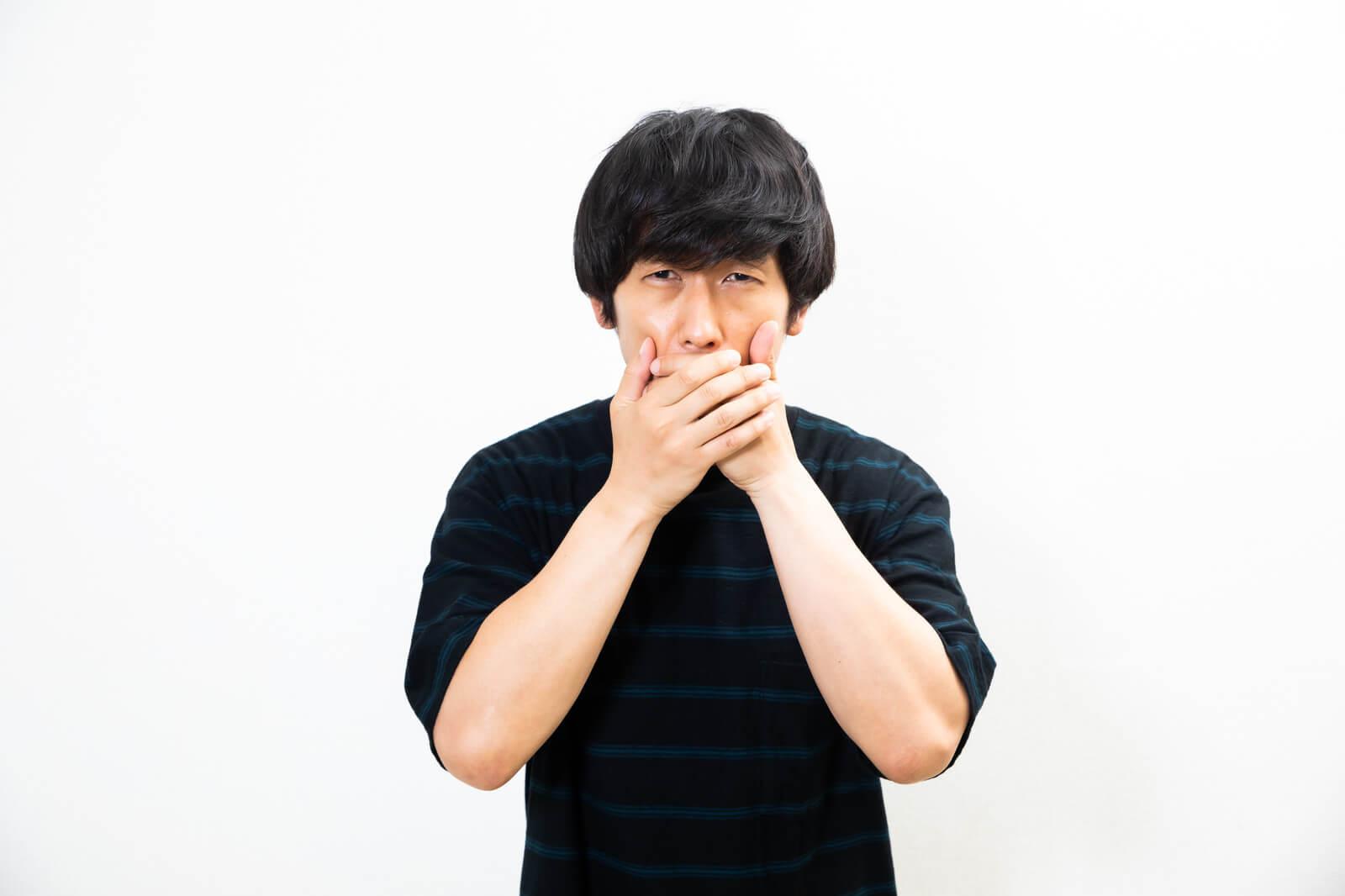 自分の声のボリュームが気になる男性