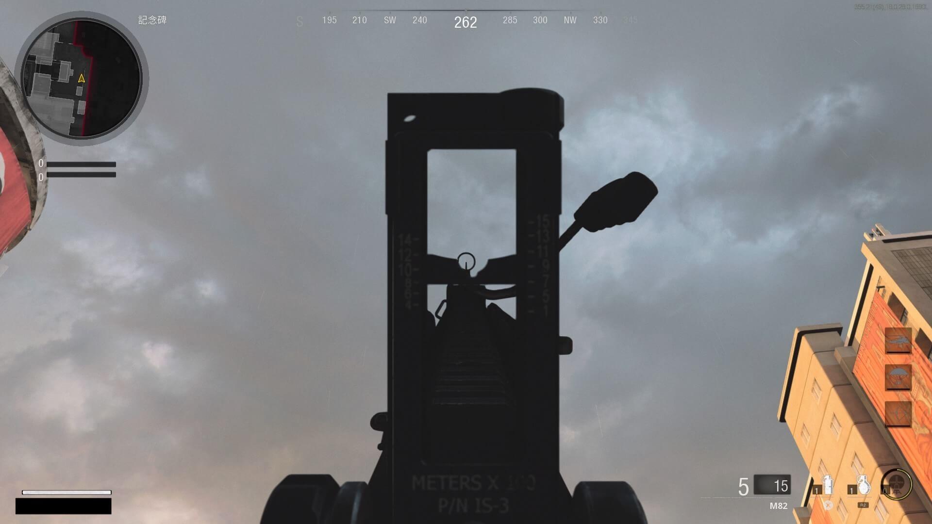 M82(アイアンサイト装着時)